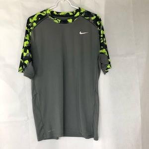 Nike Gray w Camo Dri-Fit Top